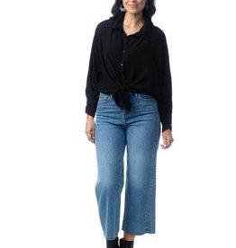 Cobblestone Remi Button Up Black Blouse