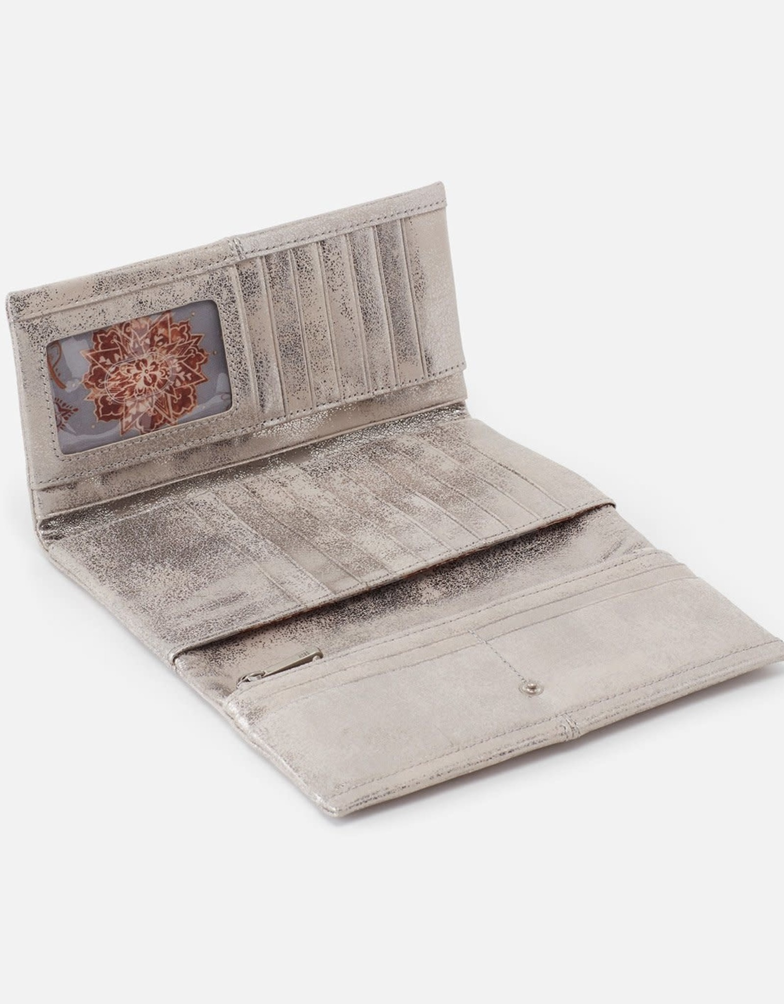 Hobo International Hobo Keen Distressed Platinum Wallet