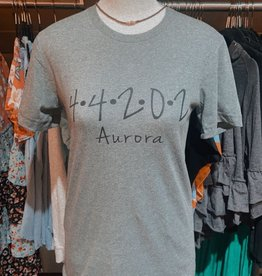 familiar goods Aurora Zipcode Shirt Heather