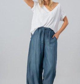 Trend:Notes Wide Leg frayed hem tencel pants