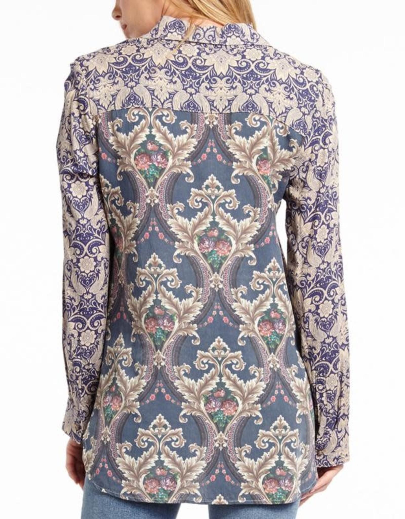 Aratta South Of France Revamped Shirt Vintage Blue