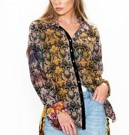 Aratta Midnight Floral Shirt Antique Floral