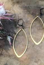 Harlow Harlow Gold Ovals on Antiqued Lever Backs