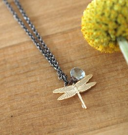 Harlow Harlow Dragonfly Brass Necklace