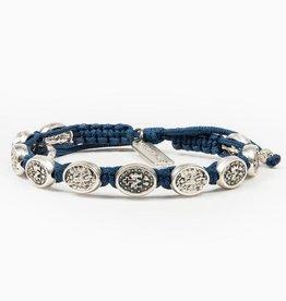 My Saint My Hero St. Michael Protection Bracelet- Royal Blue/Silver