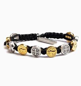 My Saint My Hero Mixed Benedictine Blessing Bracelet Black