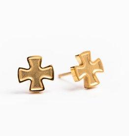 My Saint My Hero Faith Stud Earrings Gold