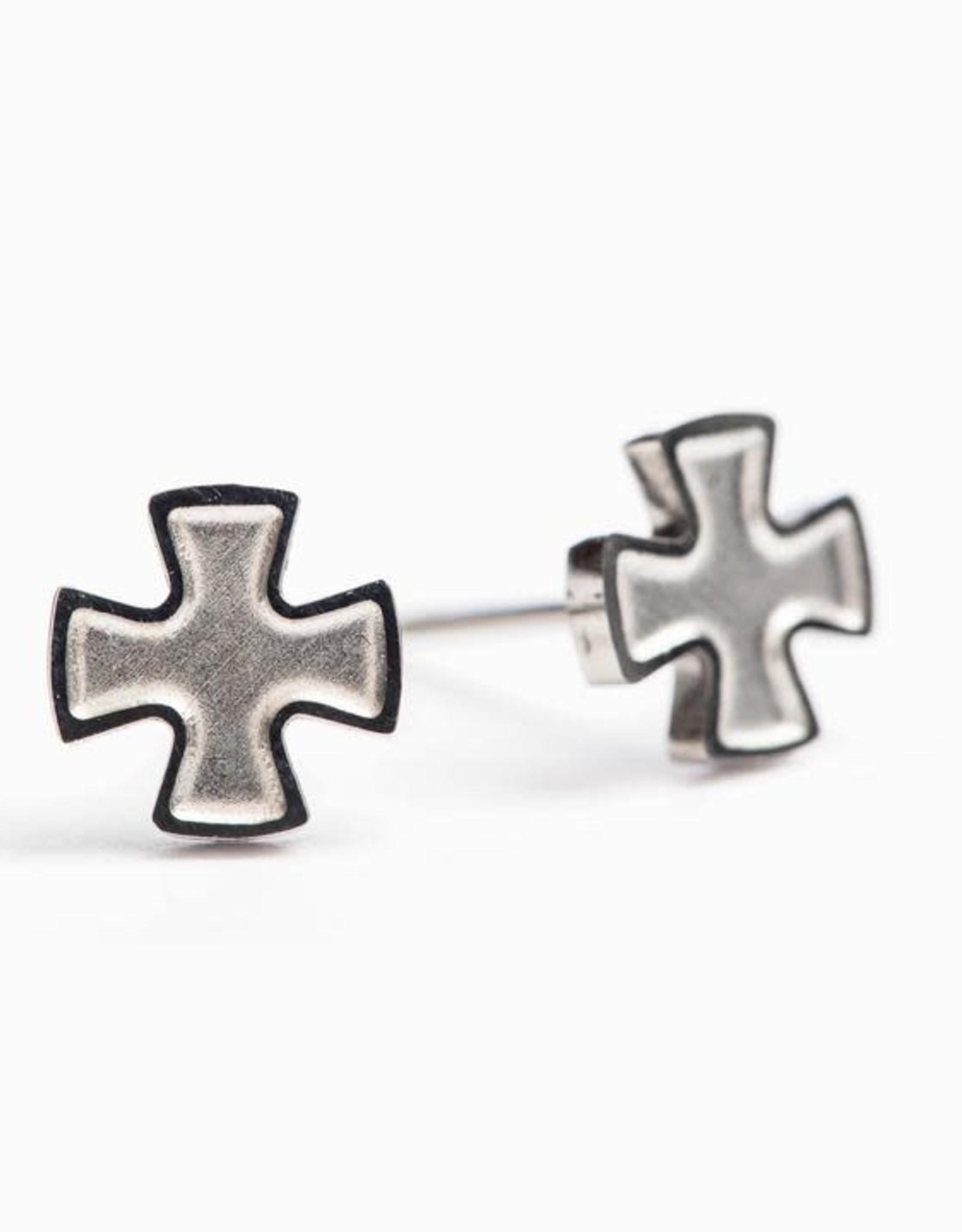 My Saint My Hero Faith Stud Earrings Silver