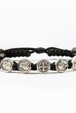 My Saint My Hero Black/Silver Saints and Heros Bracelet