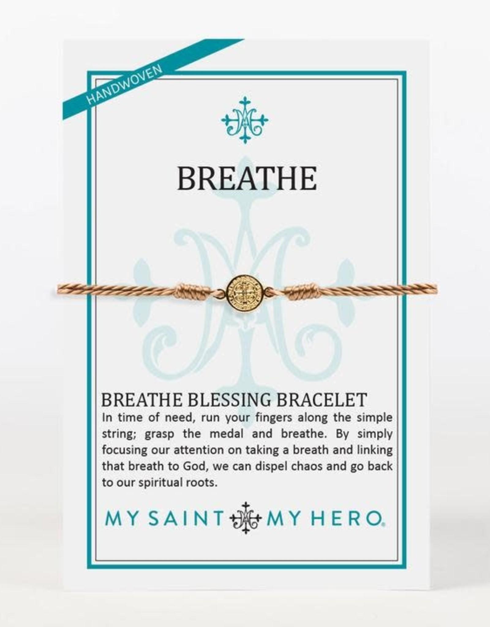 My Saint My Hero Breathe Bracelet Taupe