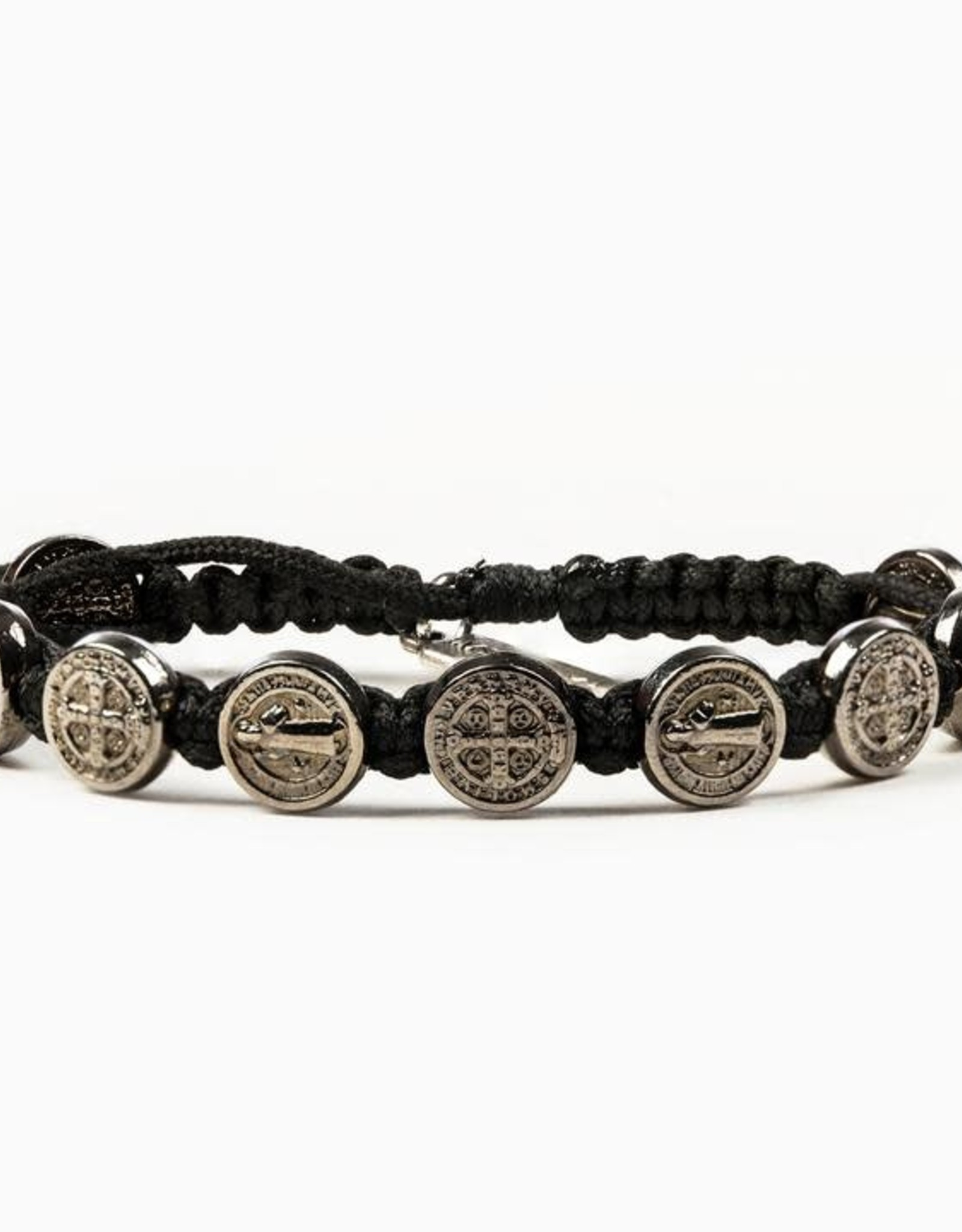 My Saint My Hero Black/Jet Benedictine Blessing Bracelet Black