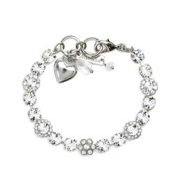 Mariana Crystal and Silver Bracelet
