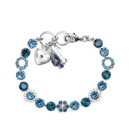 Mariana Silver and Blue Crystal Bracelet