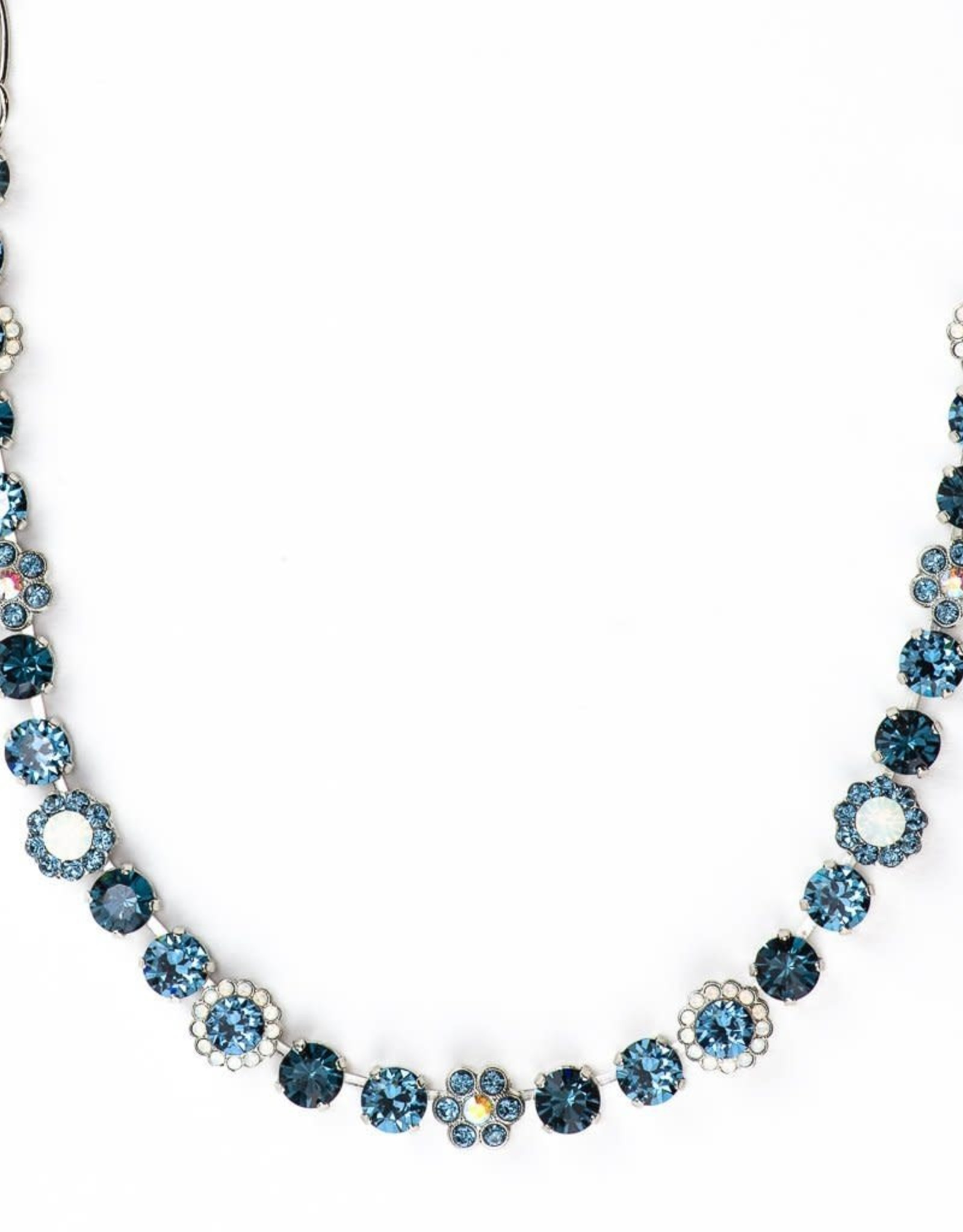 Mariana Silver and Blue Crystal Necklace