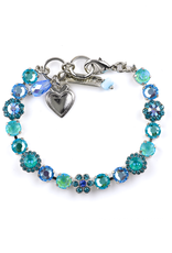 Mariana Blues Crystal Flower Bracelet