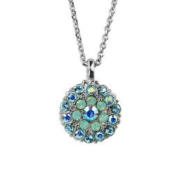 "Mariana Guardian Angel Necklace ""Light Blue"" - Rhodium"