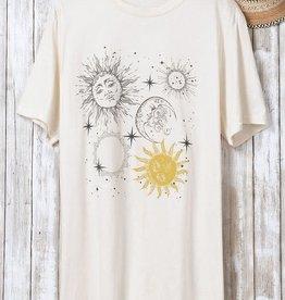Trend:Notes Sun & Moon Oversized Graphic Tee