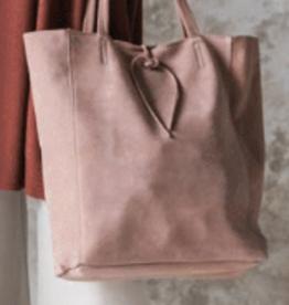 Cobblestone Savannah Suede  Misty Rose Tote Bag