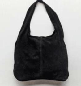 Cobblestone Shannon Suede Black Hobo Style Handbag