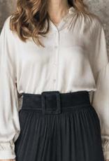 Cobblestone Cobblestone Nicole Satin Beige Blouse