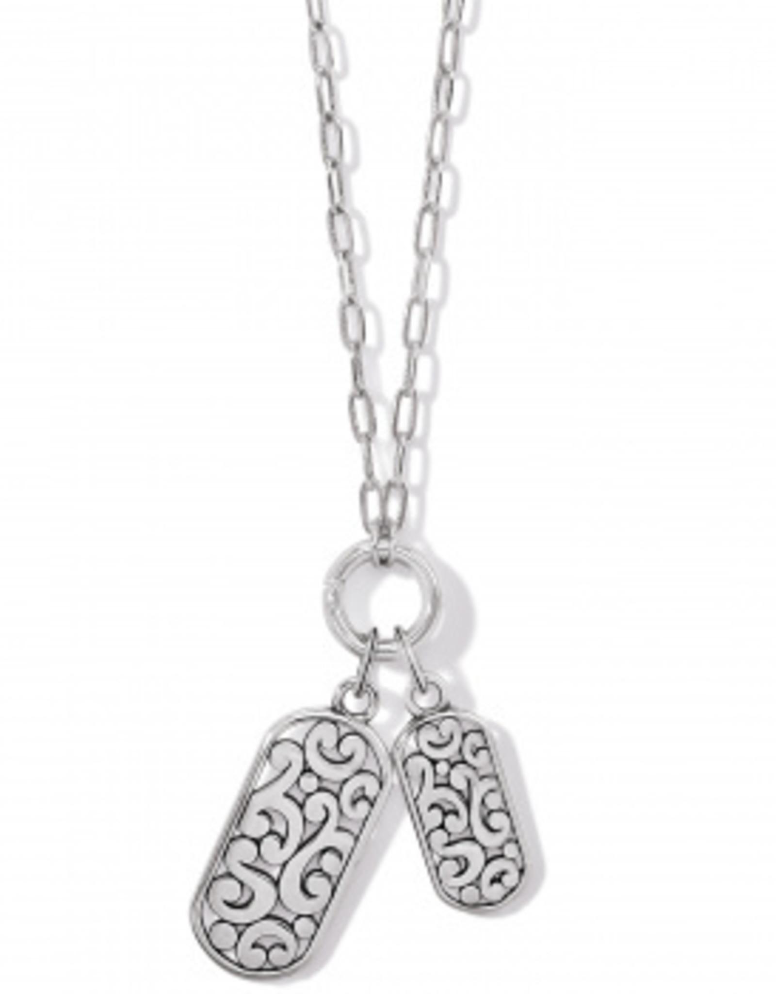 Brighton Contempo Token Tag Charm Necklace