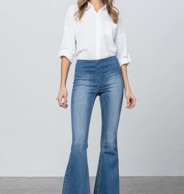 Insane Gene Mid Rise Banded Flare Jeans