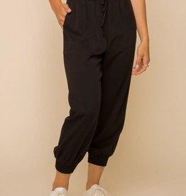 Hem & Thread Black Elastic Waist Pants