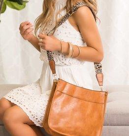 Dani & Em Crossbody Handbag Purse Leopard Animal Strap