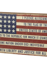 Primitives by Kathy Box Sign - I Pledge Allegiance To The Flag