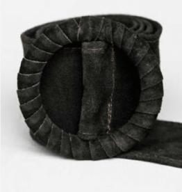 Cobblestone Cobblestone Samantha Dark Sage Buckle Belt