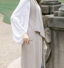 Cobblestone Cobblestone Mia Taupe Knit Vest
