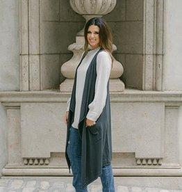 Cobblestone Cobblestone Mia Anthracite Knit Vest