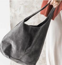 Cobblestone Shannon Suede Slate Hobo Style Bag
