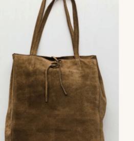 Cobblestone Savannah Suede Sand Tote Handbag