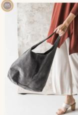 Cobblestone Shannon Suede  Beige Hobo Style Bag