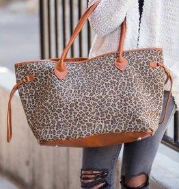 Dani & Em Leopard Tote Double Handle Weekender Bag