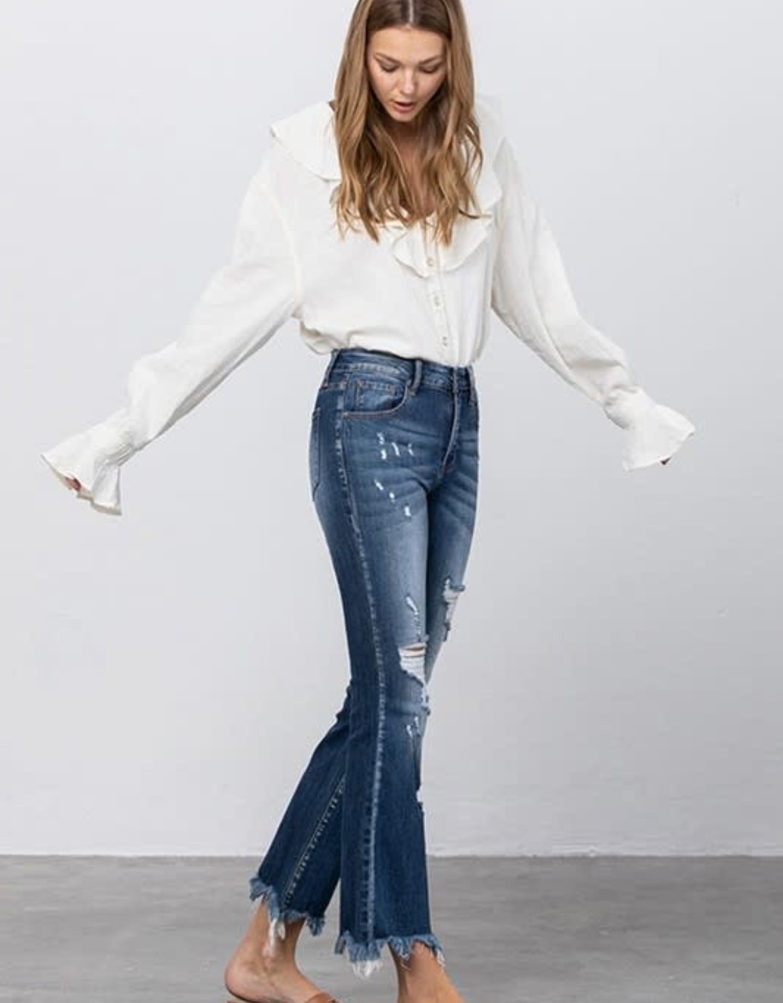 Insane Gene Mid-Rise Crop Flare Jeans