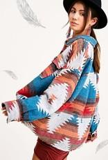 La Miel La Miel Aztec Short Jacket