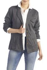 The Good Bead Knit Blazer Steel Gray