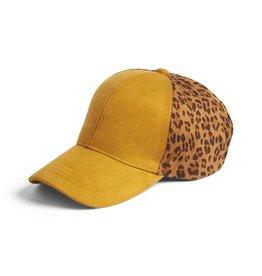 Coco & Carmen Mustard Animal Print Baseball hat