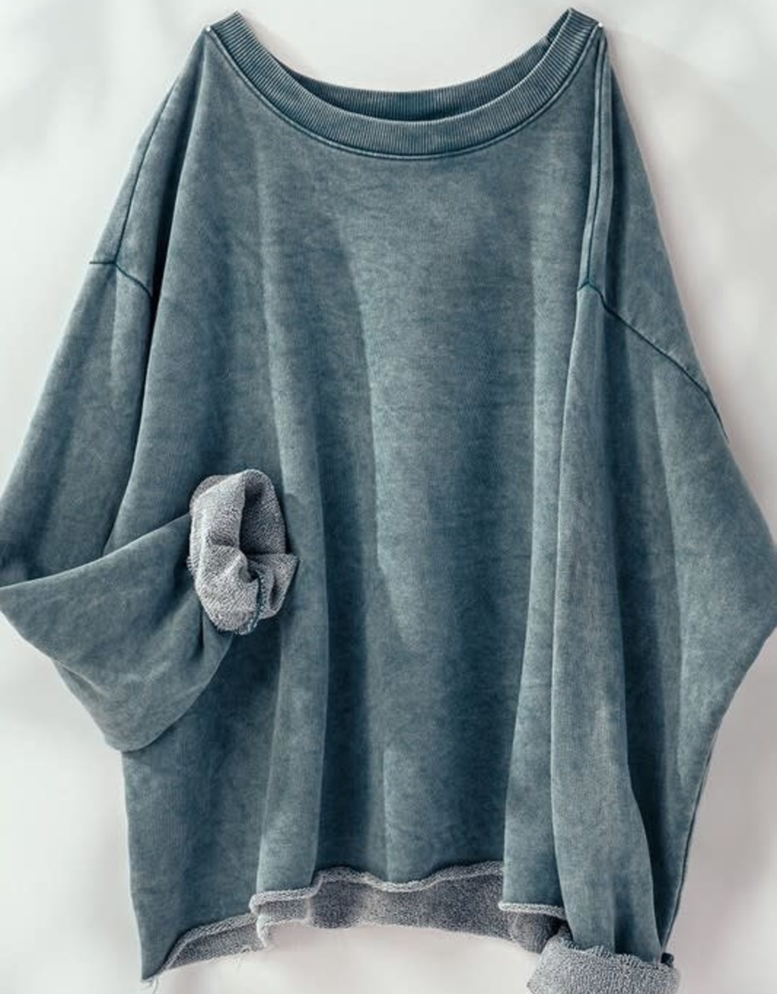 Trend:Notes Washed French Terry Cropped Sweatshirt