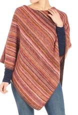 Coco & Carmen Chevela Ombre Stripe Poncho One Size