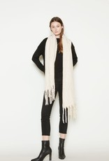 Look By M Brushed Confetti Grunge Scarf Ivory