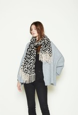Look By M Reversible Leopard Scarf