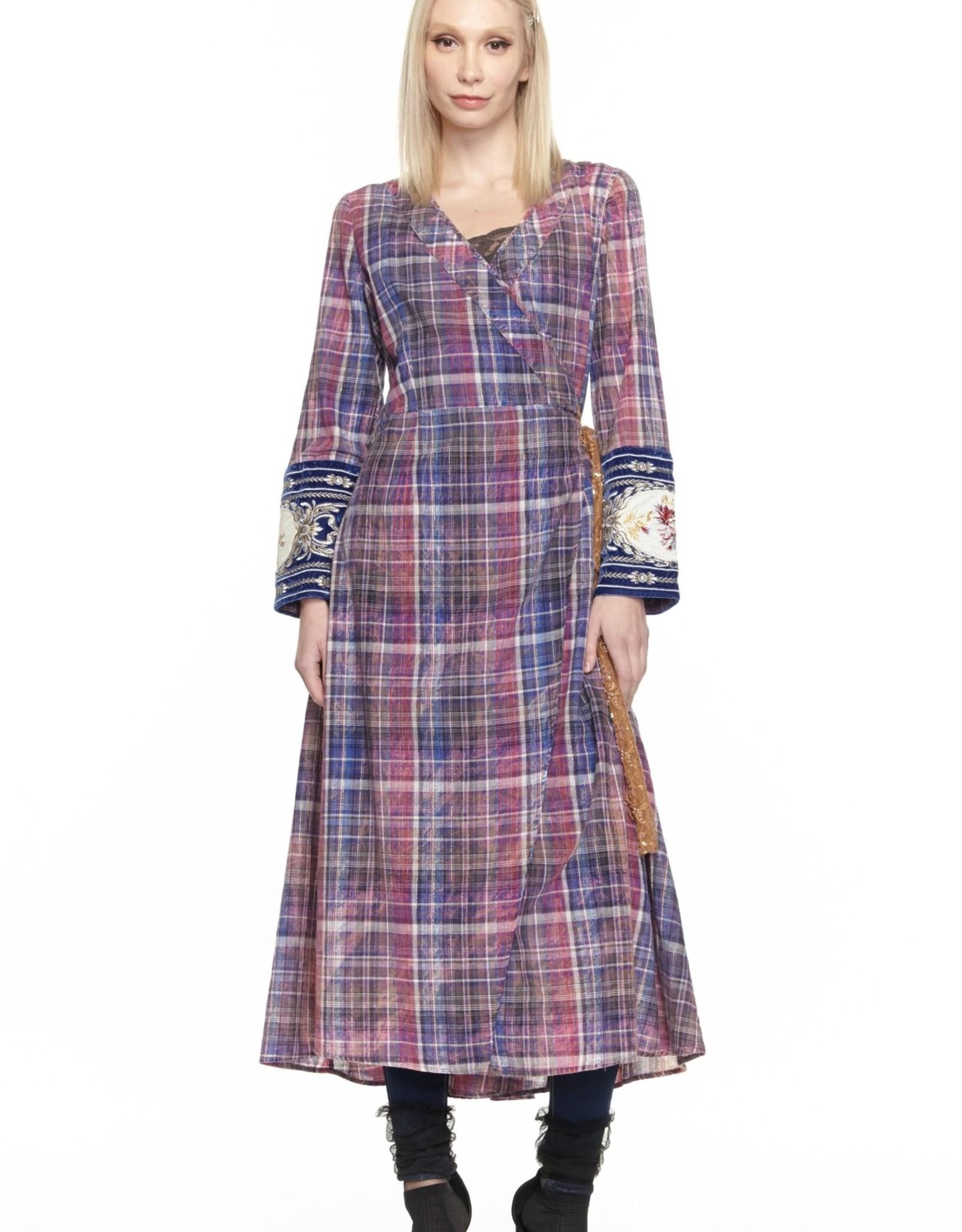 Aratta Purple Reign Maxi Wrap Dress Kimono