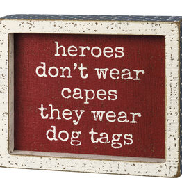 Primitives by Kathy Dog Tags Box Sign