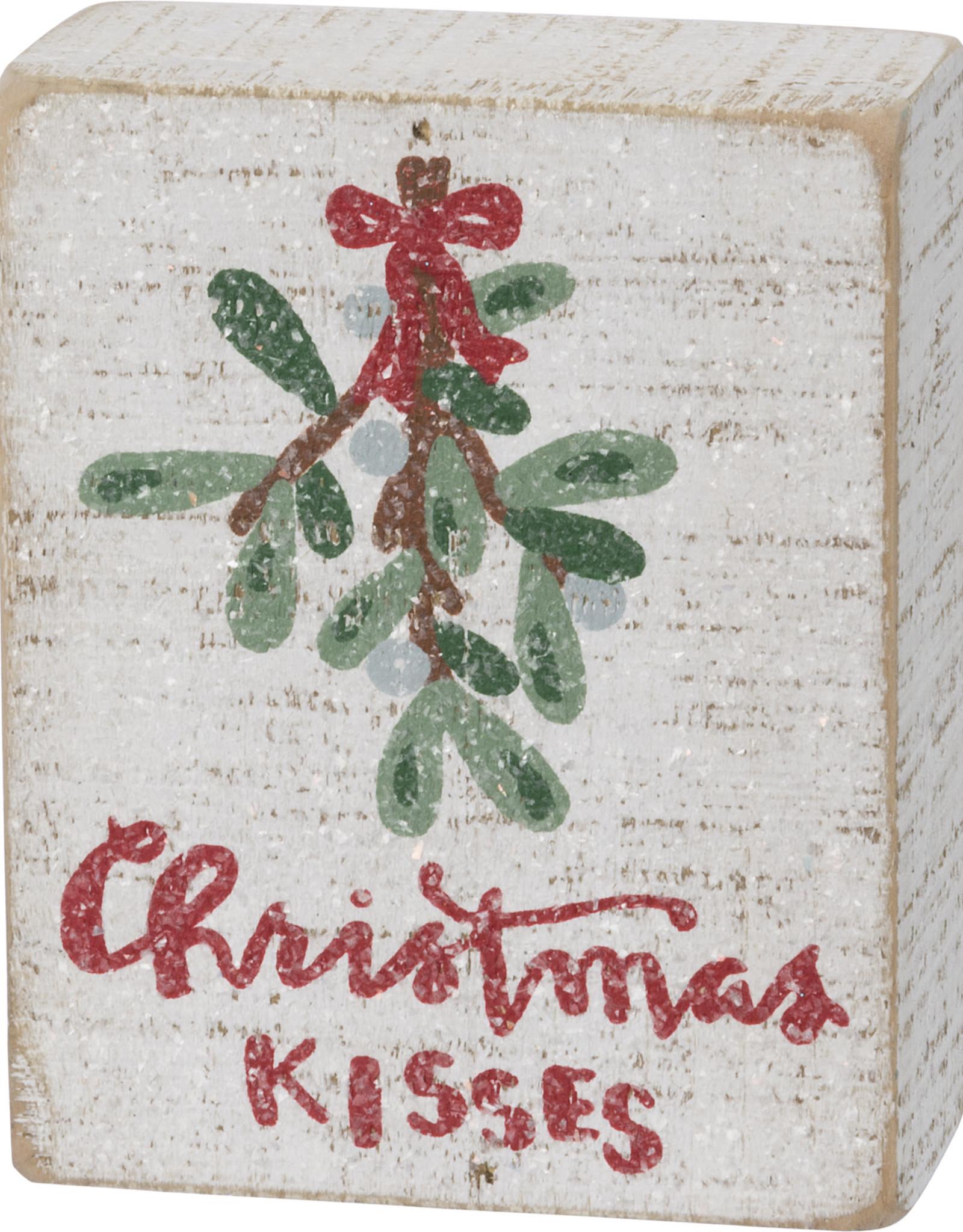 Primitives by Kathy Christmas Kisses Box Sign