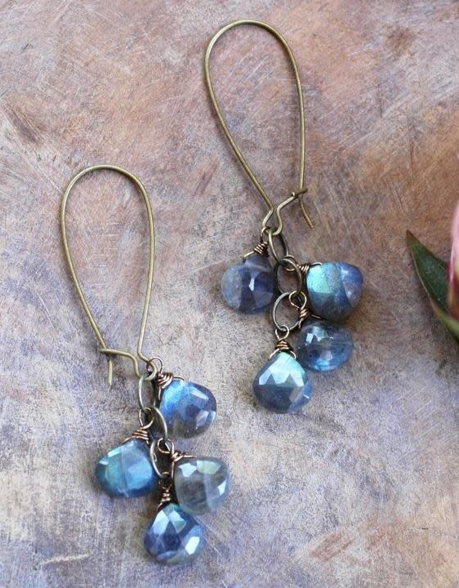 Harlow Labradorite Cascade Earrings