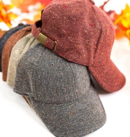 Dani & Em Tweed Baseball Hat Assorted Colors