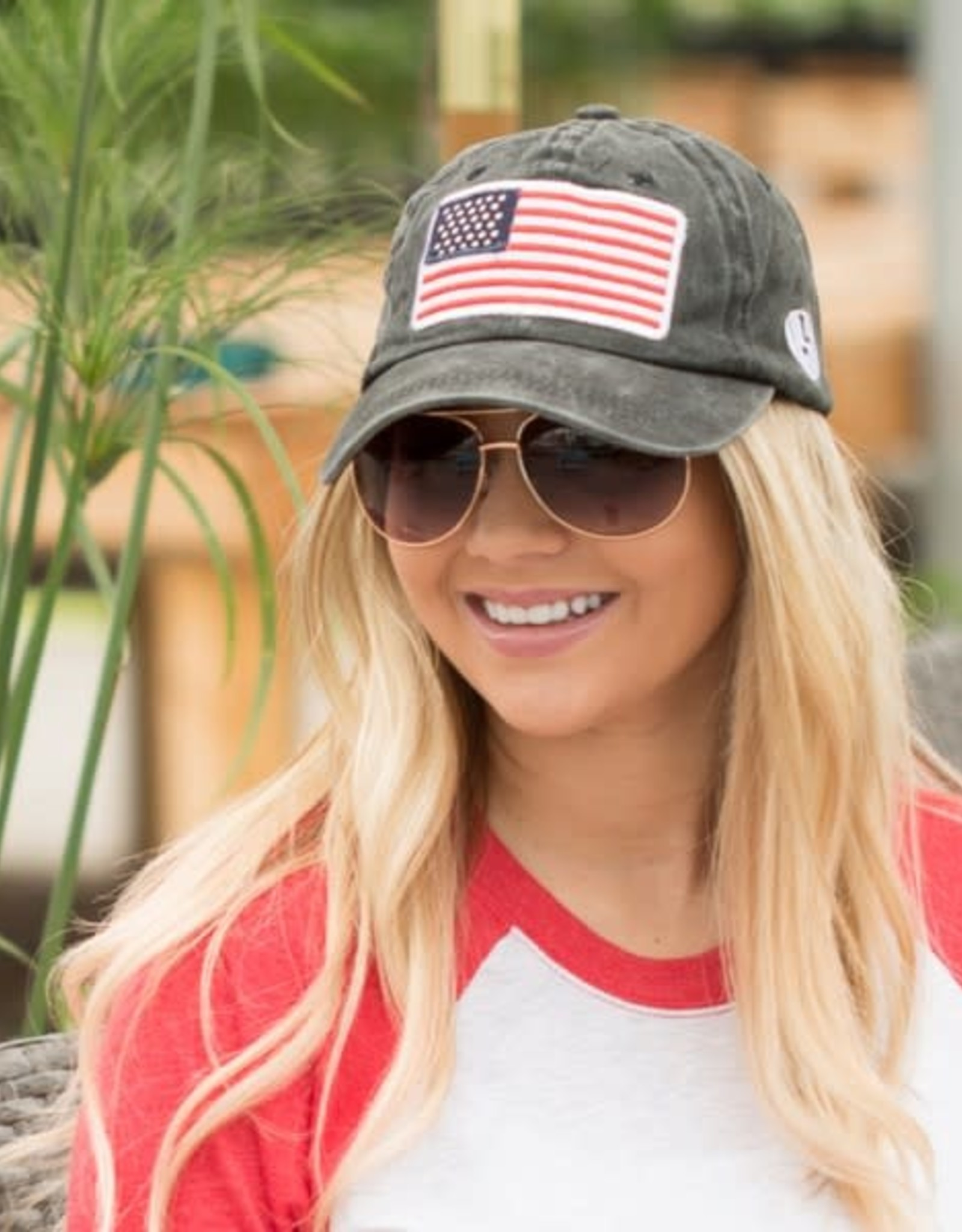 Dani & Em USA Baseball Hat Wine